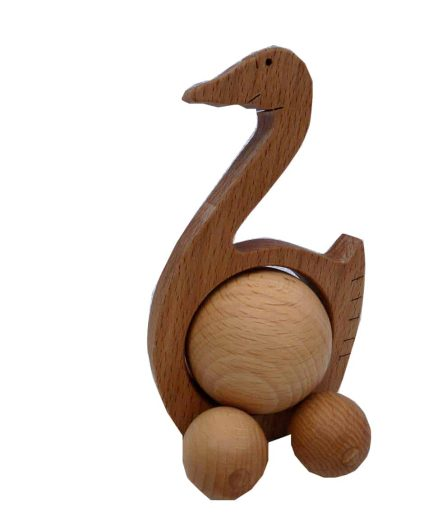 WOODEN ROLLING GOOSE TOY - KIDS / CHILDREN / TOYS