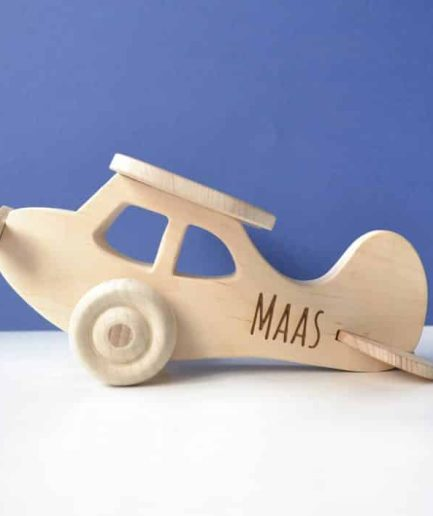 Wooden Airplane customized with name